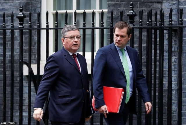 Robert Buckland (left), who had been at the Ministry of Justice, was sent to the backbenches
