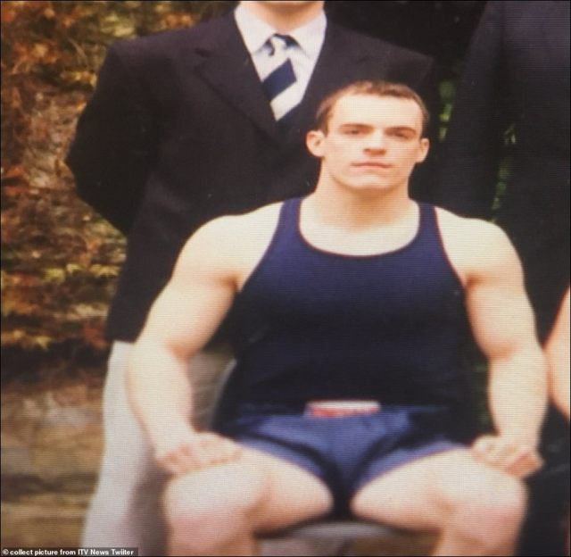 Conservative MP Dominic Raab, when at Oxford, where he won a blue for boxing