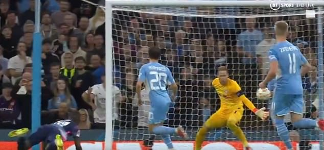 The RB Leipzig defender headed into his own net in his side's 6-3 loss against Manchester City