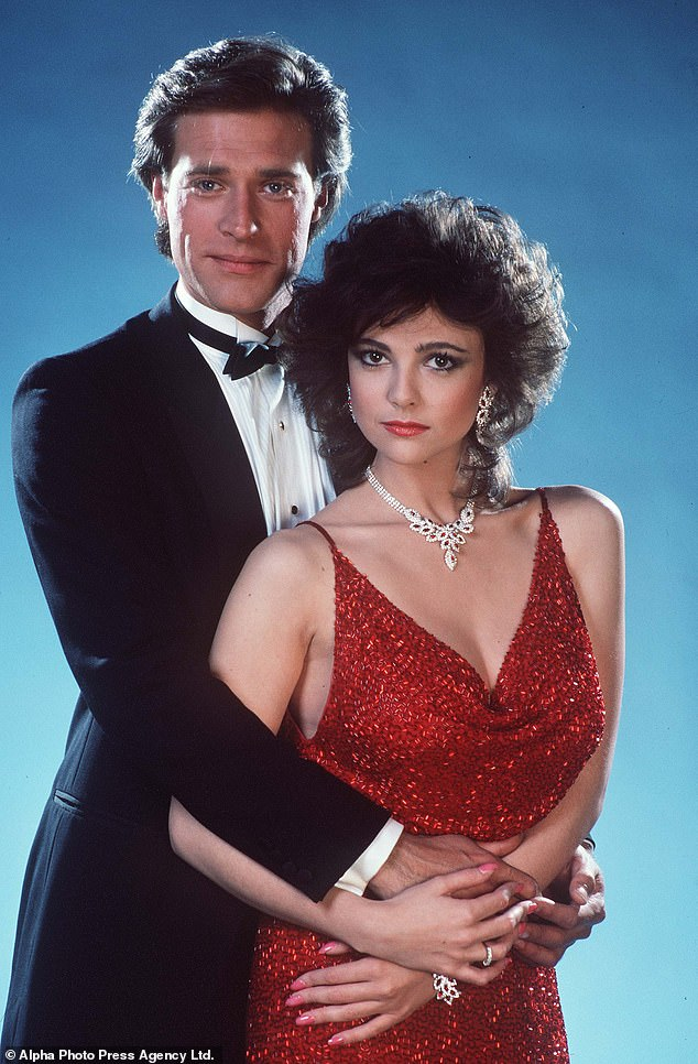 Samms, 61, was one of the biggest TV stars of the 1980s, playing fiery heiress Fallon Carrington Colby in Dynasty (pictured)