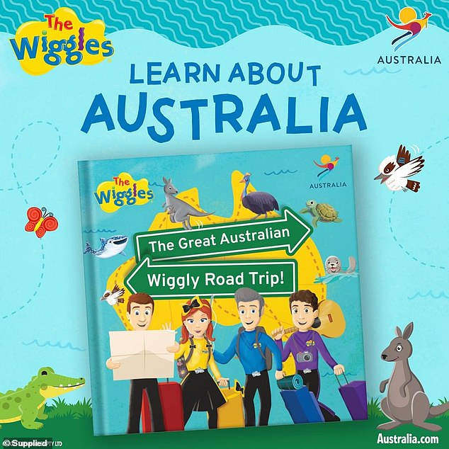 Exciting: A children's book called The Great Australian Wiggly Road Trip (pictured) has also been released, as well as a new Wiggles song and YouTube series