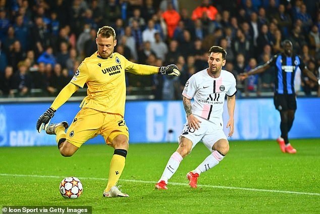 But Simon Mignolet was rarely troubled as Club Brugge frustrated an all-star PSG