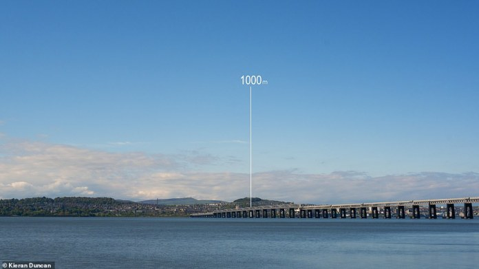 'Part of the film shows what a one kilometre [0.6 mile thick] The ice sheet must have looked like above the law, and I remember my mind blown when Max first told me about it,' said Mr. Duncan.  Law (pictured here showing the relative height of the ice sheet) The highest point in Dundee is a 571 ft (174 m)-tall remnant of the volcano's remnant.