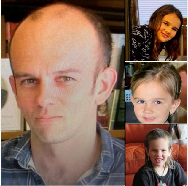 Tom Phillips, 34 and his three young children Jayda, 8, Maverick, 6, and Ember, 5, (pictured) were last seen on Saturday night with the family's Toyota Hilux abandoned in surf