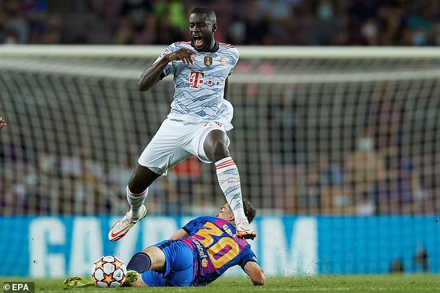 Dominant Dayot Upamecano kept the Barcelona threat comfortably at bay in Bayern's 3-0 win