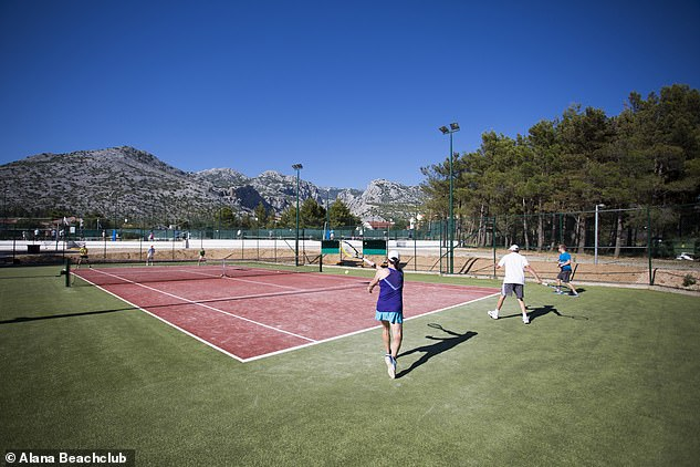 The programme at the Alana Beachclub, pictured,has been set up by Mark Petchey, Andy Murray's former coach