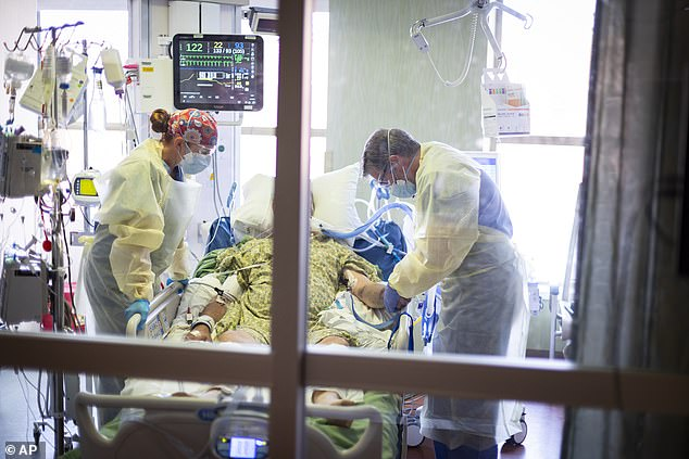 Symptoms of COVID can last long after an initial infection – or initial visit to the hospital – for many patients who develop COVID for a long time.  A new research grant will enable scientists to find out why.  Image: A COVID patient in the ICU at a Boise, Idaho hospital, August 2021