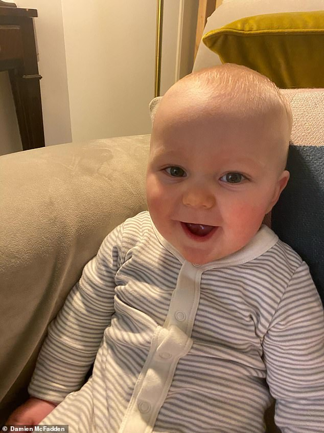 Careering off the road, the van crashed into Louis' pushchair. The sleeping Louis, just five months old, was thrown out of his pram and died instantly