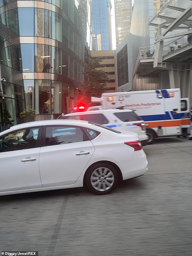 An ambulance was pictured outside Wendy Williams' Manhattan apartment on Tuesday morning