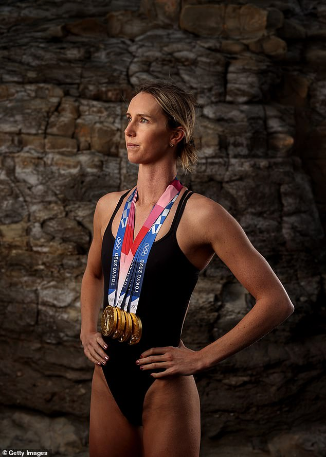 Record holder: In Tokyo, Emma became Australia's most decorated athlete with seven swimming medals to her name - impressive four of which were gold