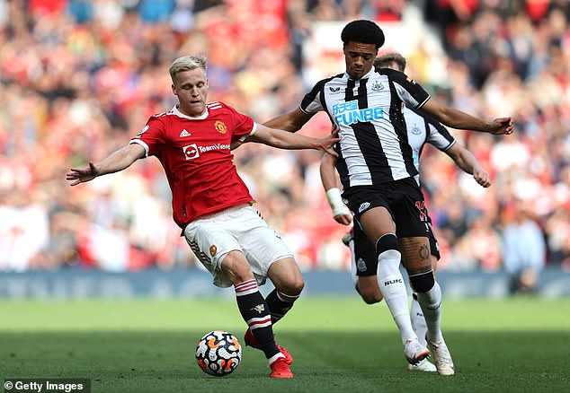 Van de Beek has made just four Premier League starts since joining Manchester United