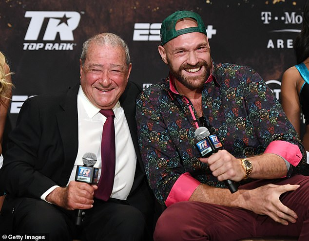 Bob Arum has hit out at claims that Tyson Fury was 'lying' over testing positive for Covid-19
