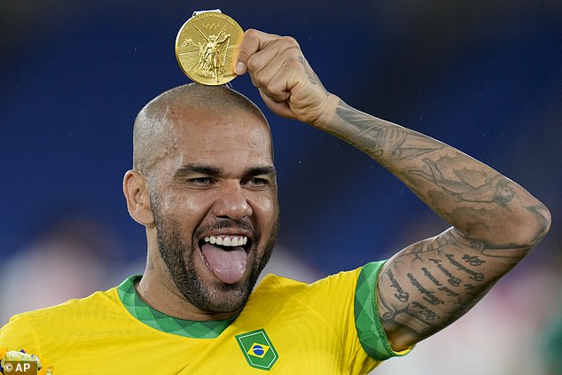Alves won Olympic gold this summer in Tokyo - and wants to play at the 2022 Qatar World Cup