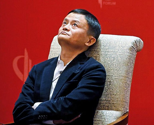 Alibaba banking, shopping and search engine group founder Jack Ma (pictured) has seen this $434 billion (£313 billion) share in US-listed Leviathan Alibaba drop 44 percent.