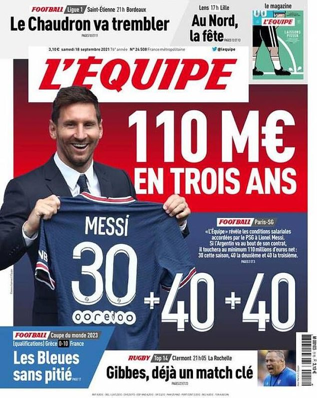 French paper L'Equipe has leaked his contract details, including a loyalty bonus