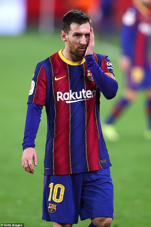 Messi was forced to leave Barcelona unable to tie him to a new contract