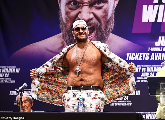 Fury is usually in a bullish mood before the fight and is confident that he will win again.