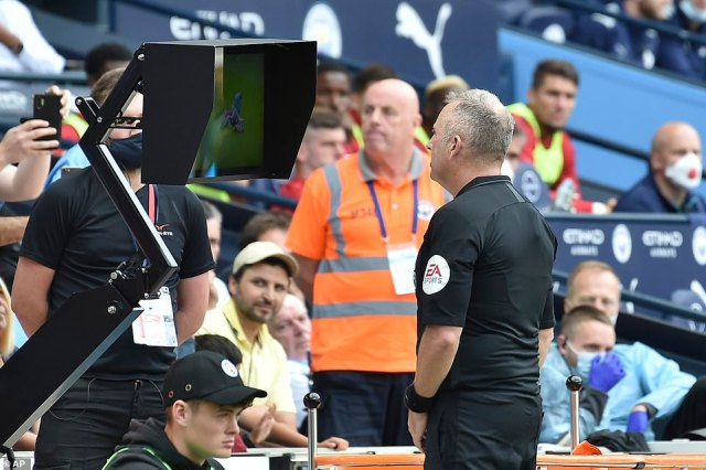 Referee Jonathan Moss was advised to look at the VAR monitor and he overturned both Walker's red card and the penalty kick