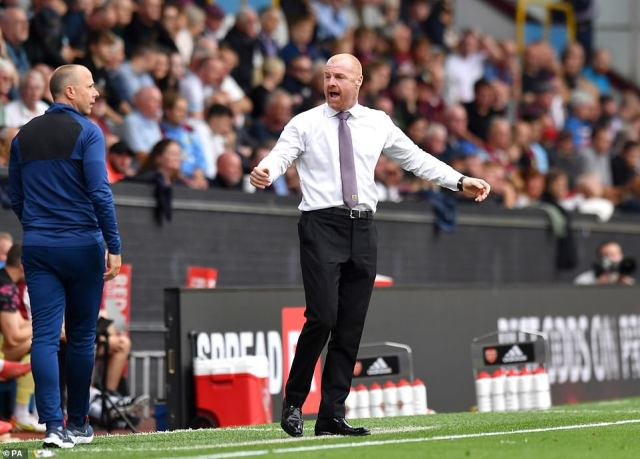 Sean Dyche was left frustrated, with his Burnley side having taken just one point from five matches so far this season