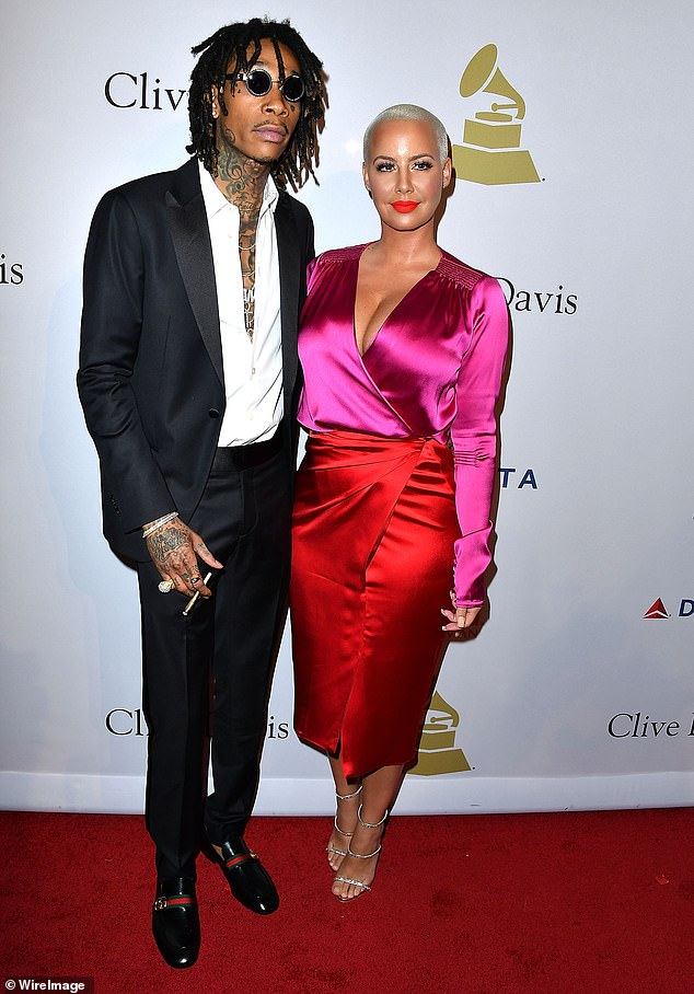 Co-parents: Amber appears to have a much more positive relationship with ex-husband / other baby-dad Wiz Khalifa, having previously told Us Weekly