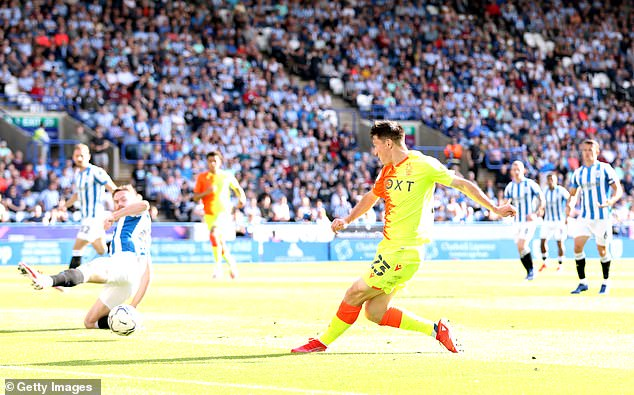 Joe Lolley sent the ball in which caused problems for Nicholls as he scored an own goal