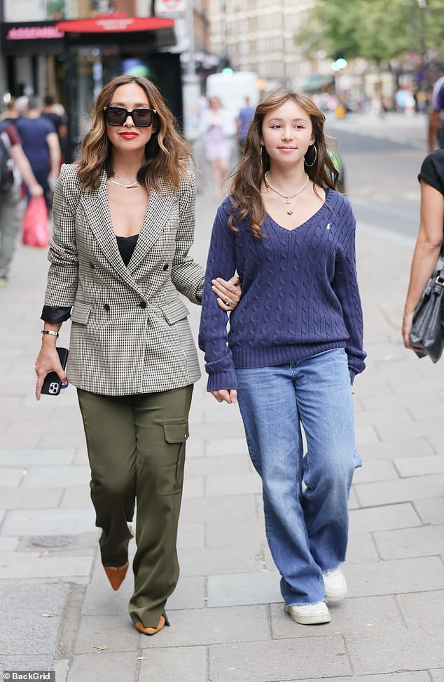 Tragic reveal: Their mother-daughter outing comes as Mylene recently revealed she was 'afraid to drink water' after suffering four miscarriages in the past