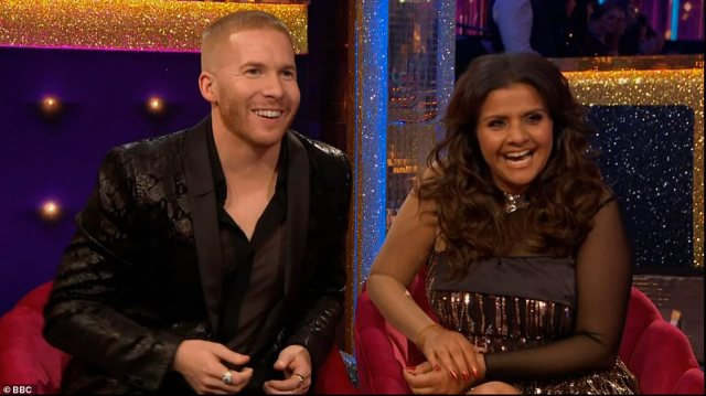 It's Neil! The actress was teamed up with professional dancer Neil Jones, who enthused: 'I couldn't be happier'