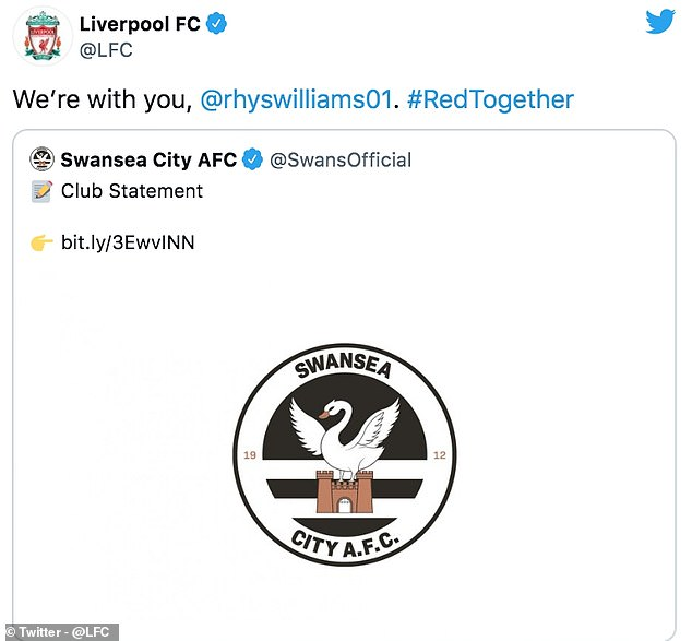 His parent club responded to the Swans' statement offering Williams their support
