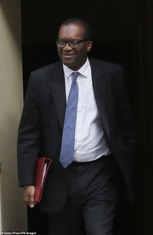 Business Secretary Kwasi Kwarteng (pictured) will tomorrow hold an emergency summit with energy bosses to thrash out a plan to fix the fuel crisis, which has sparked fears of major food shortages