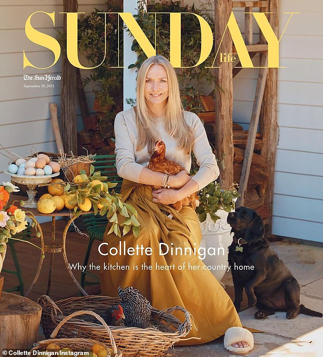 Ready: Collette, who now lives in Bowral in the NSW Southern Highlands, says she will be using her experiences at Paris fashion week to help her cope under pressure. She appears on the cover of Sunday Magazine