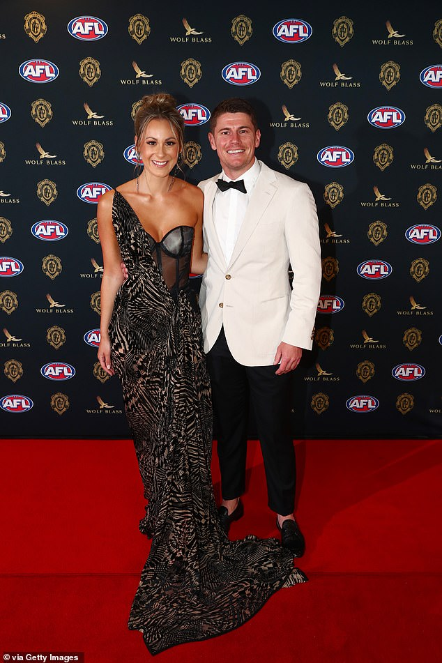 Brownlow Medal 2021: Brisbane Lions star Dayne Zorko and glamorous girlfriend Talia Demarco led the red carpet arrivals in Perth on Sunday night