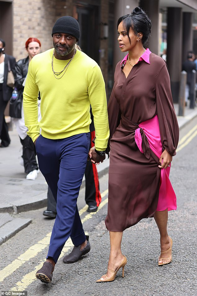 Upcoming movie:Their outing to the fashion film screening comes as Idris Elba prepares for his own upcoming new movie, The Harder They Fall, due for release in October 2021
