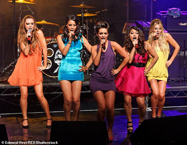 Throwback: It may be more than six years since The Saturday went on its break, but Frankie is still close with the girls in the group — (from LR) — Una Healy, Rochelle Humes, Vanessa White and Molly King