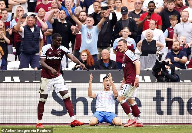 Solskjaer, however, felt Ronaldo deserved some penalty at the London Stadium