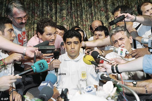 Greaves came to Diego Maradona's defense when Argentina failed a drug test in 1994