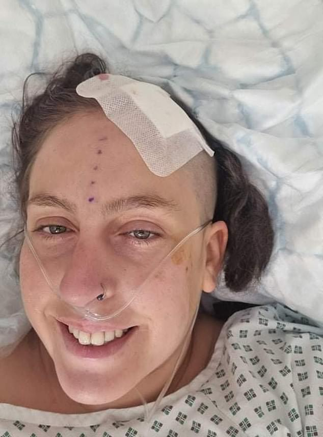 Katie Lee, 30, a painter and decorator is recovering in the James Cook Hospital in Middlesborough after emergency surgery. She says: 'I've been trying to get a face to face appointment with a doctor or a consultant for over a year but have been fobbed off with phone calls or online forms.'