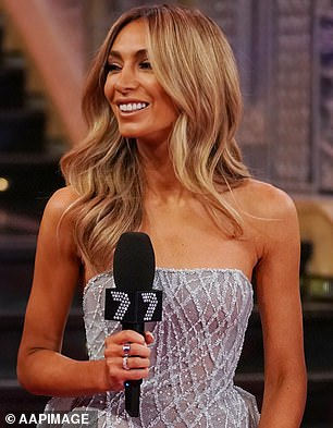 Fallen: Nadia, the ex-wife of Brownlow medallist Jimmy Bartel, was once a shining star of the WAG scene but is now shamed after a white-powder sandal. Pictured at the2019 Brownlow Medal