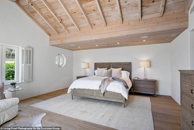 It has seven bedrooms, like the one seen here, that fit a full queen size bed