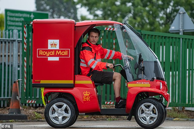 Royal Mail chief executive Simon Thompson said: 'We're committed to keep on reducing our environmental impact. 'We intend to leave no stone unturned in trialling new technologies and new ways of delivering to help us do that.'