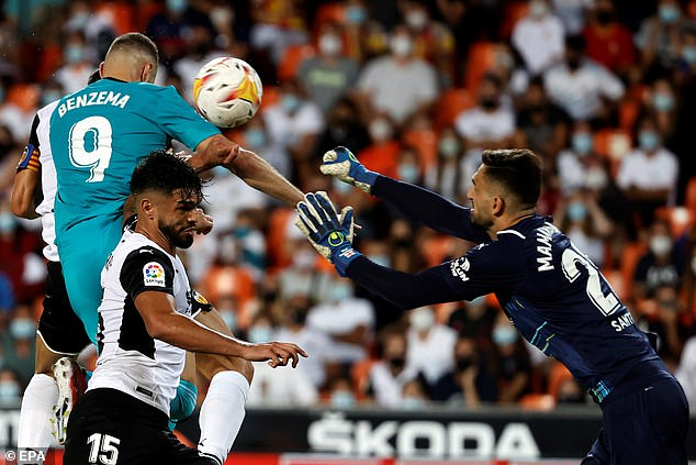 Benzema's strike made him the league's outright top goalscorer with six ahead of Vinicius