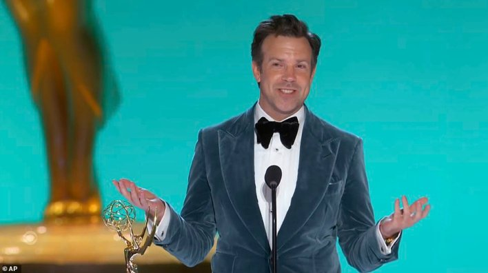 Family:The comedian included a sweet callout for his son Otis, seven, and his daughter Daisy, four, whom he shares with his former partner Olivia Wilde