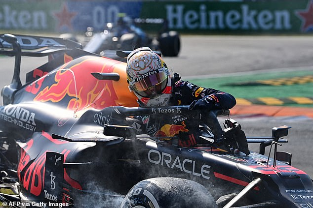 Verstappen will face a three place grid penalty for the Russian Grand Prix due to his part in the shunt