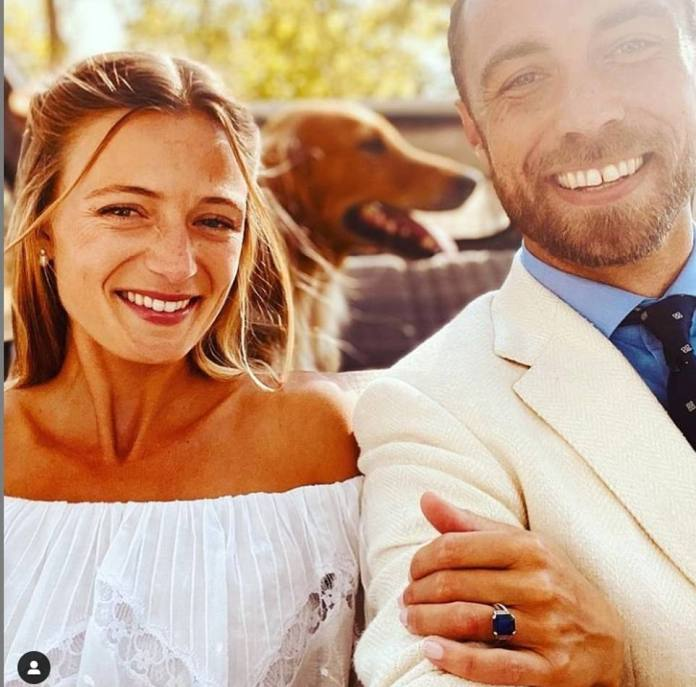 Announcing his wedding on Instagram with a photo of himself and bride Alizzi, James said: 'Words can't describe how happy I am'