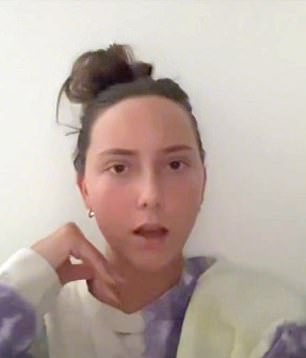 Supernatural: Eminem and ex-wife Kim Scott's daughter Hailey Jade (pictured) shocks fans that she looks like a rapper in a makeup-free video