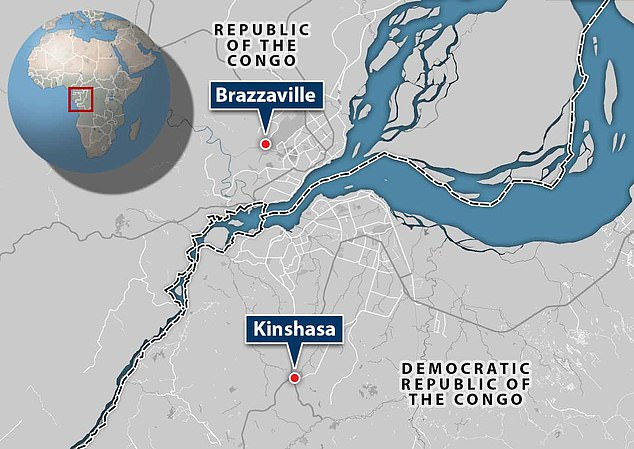 Brazzaville and Kinshasa are two cities in different countries of Africa, which are on either side of the Congo River.