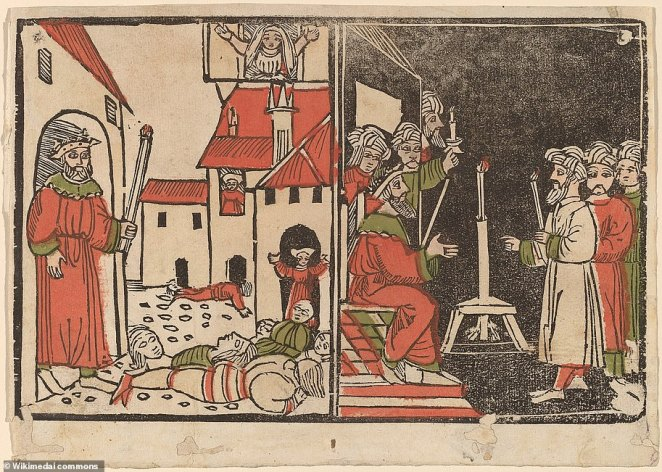 As described in the Book of Exodus, the firstborn Israelite sons were spared from the final plague brought upon the pharaoh, in which God wiped out the firstborn sons of Egypt, an event commemorated every spring at Passover (pictured:Spanish 15th century, Massacre of the Firstborn and Egyptian Darkness, c. 1490, hand-colored woodcut, National Gallery of Art, Washington, Rosenwald Collection)