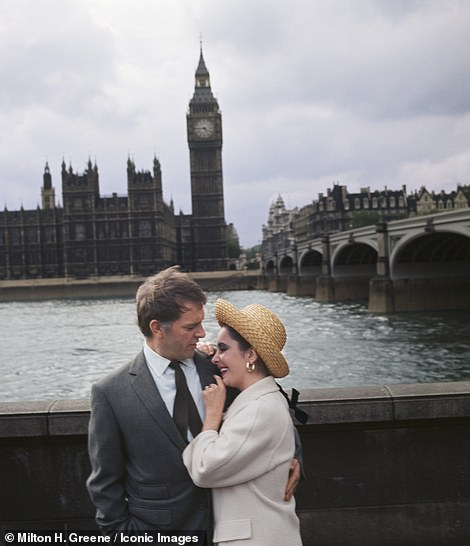 The couple pose in front of Big Ben in a picture taken in 1963