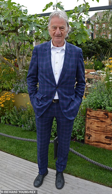 Designer Paul Smith was one of the first to visit the Parsley Garden at The Parsley Box Garden Chelsea Flower