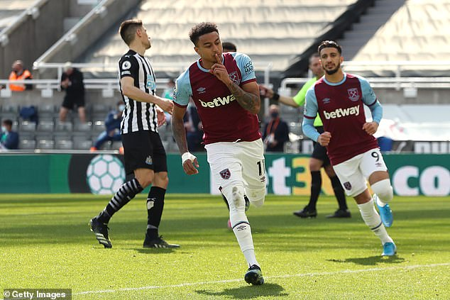 Lingard scored nine goals in 16 appearances during a loan spell at the London Stadium