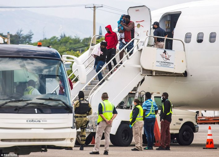 Removal flights began over the weekend, with three planes full of Haitians who fled to the U.S. landing in Port-au-Prince, Haiti on Sunday